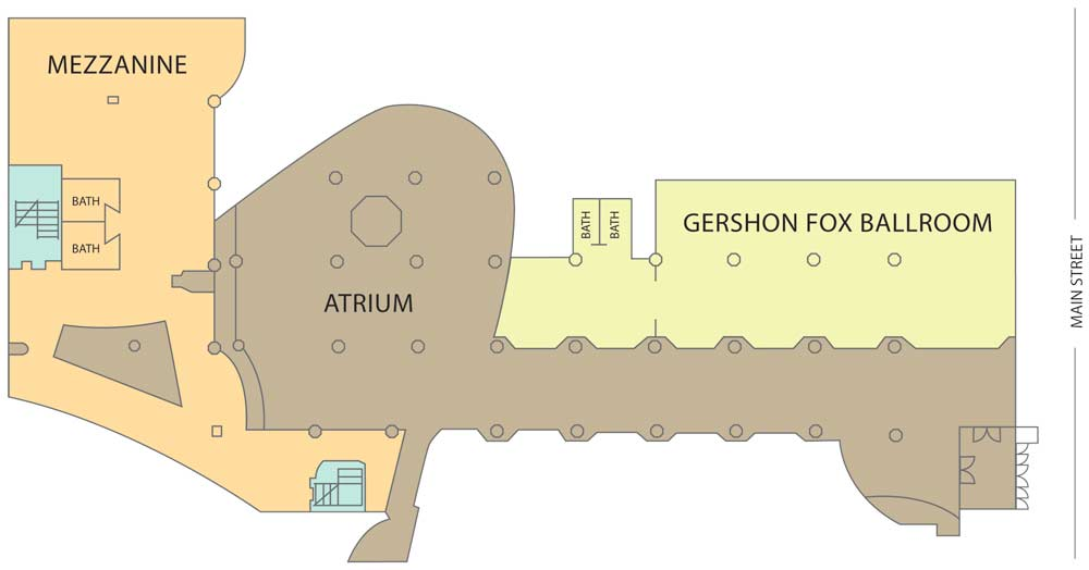 G Fox venue layout